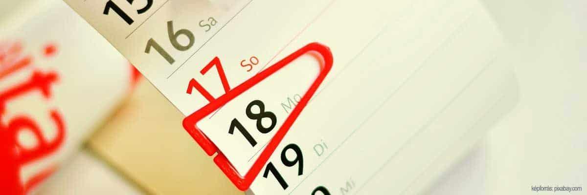 Hány nap telt el 2 dátum között? Kiszámoljuk!