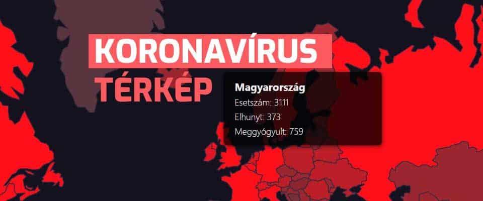 Koronavírus térkép