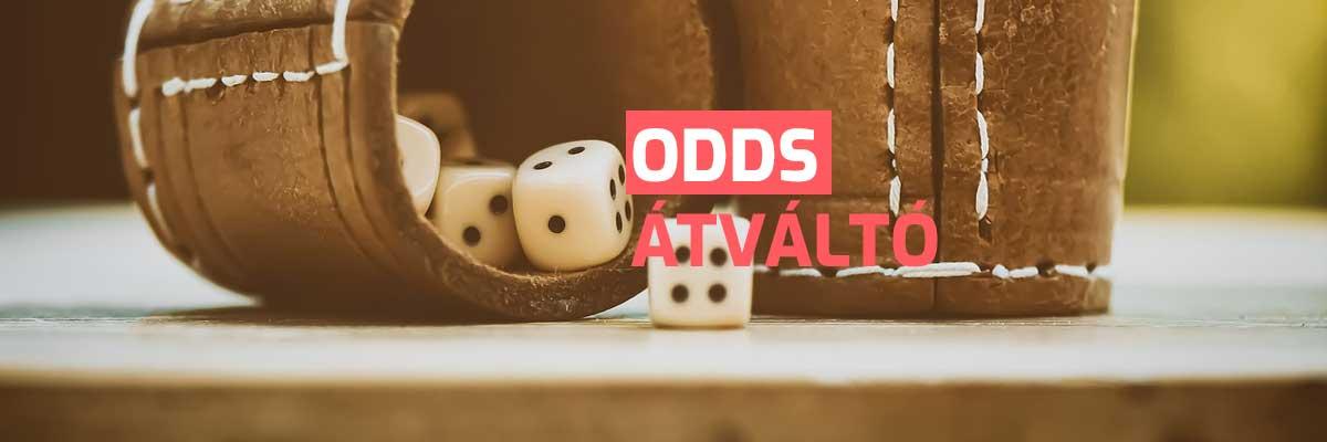 Odds átváltó - Online odds konvertáló